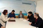 Responsables de la cofradía de Camariñas y de Agade, con la conselleira Quintana.