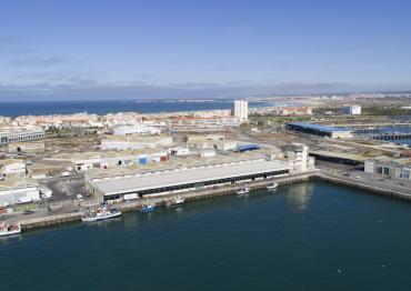 Vista aérea del puerto pesquero de Peniche, en Portugal.