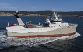 "El arrastrero ""Isla de Terranova"", de Nodosa Shipyard para Pesca Baqueiro."