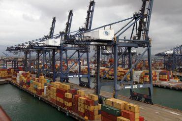 Terminal de contenedores en Panamá.